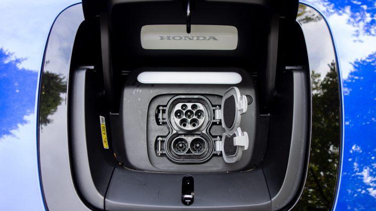 Honda e charging port