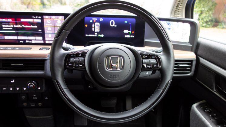 Honda e steering wheel