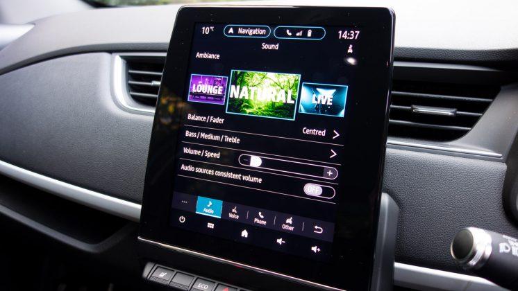 Renault Zoe audio interface