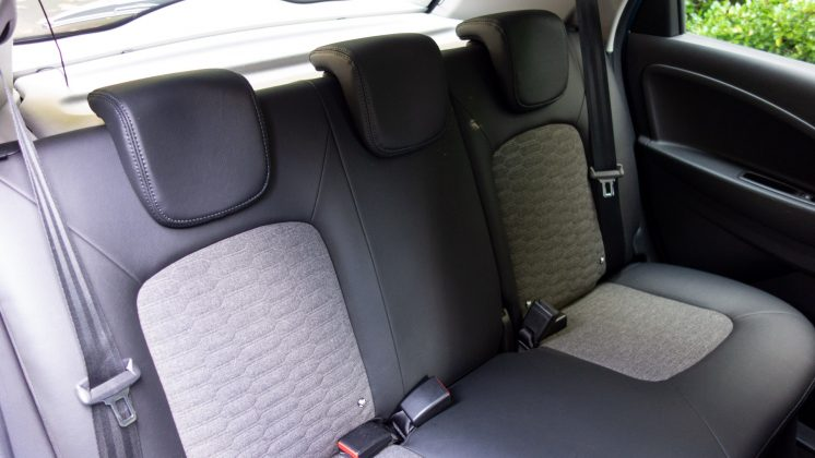 Renault Zoe rear seats