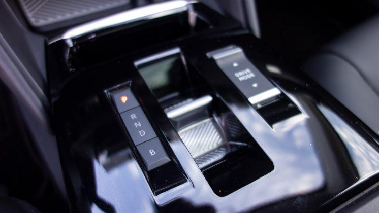 Citroen e-C4 centre console