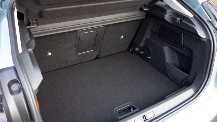 Citroen e-C4 rear boot space