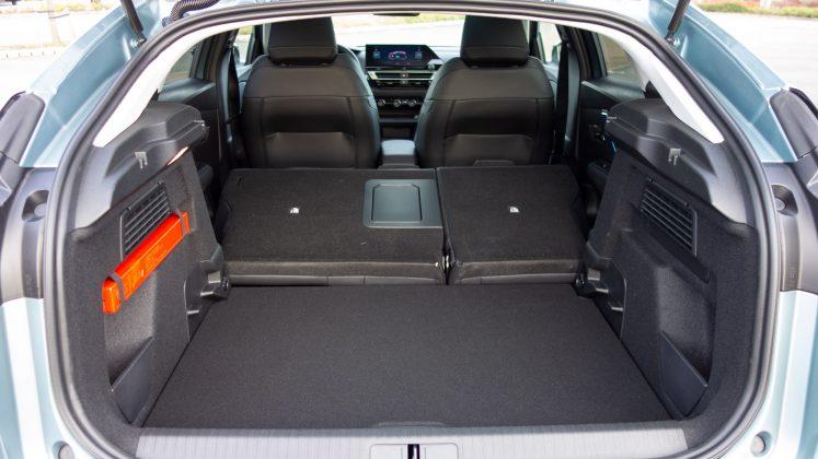 Citroen e-C4 rear seats folded