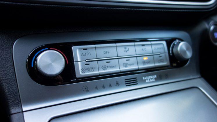 Hyundai Kona Electric climate controls