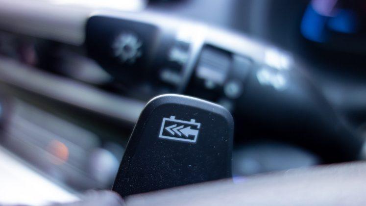 Hyundai Kona Electric flappy paddles