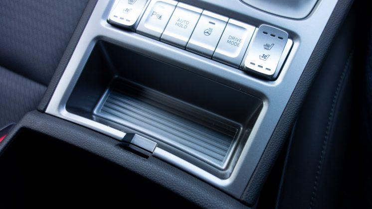 Hyundai Kona Electric key compartment