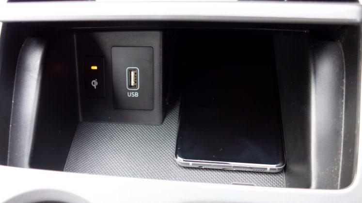 Hyundai Kona Electric phone charging