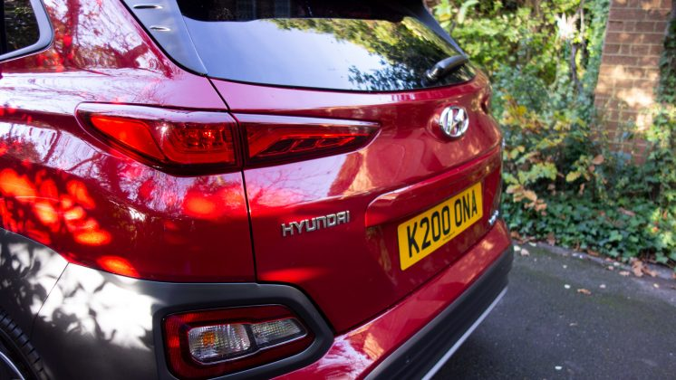 Hyundai Kona Electric rear profile