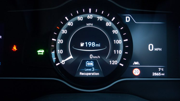 Hyundai Kona Electric regenerative braking