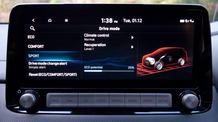 Hyundai Kona Electric sport mode