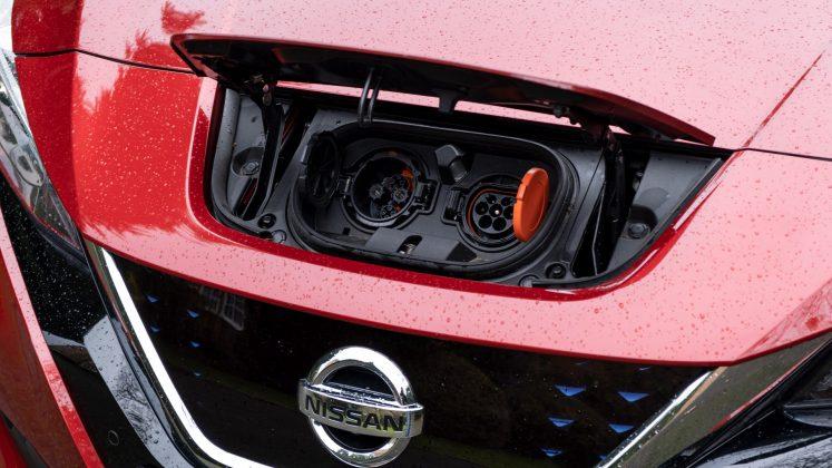 Nissan Leaf charging flap