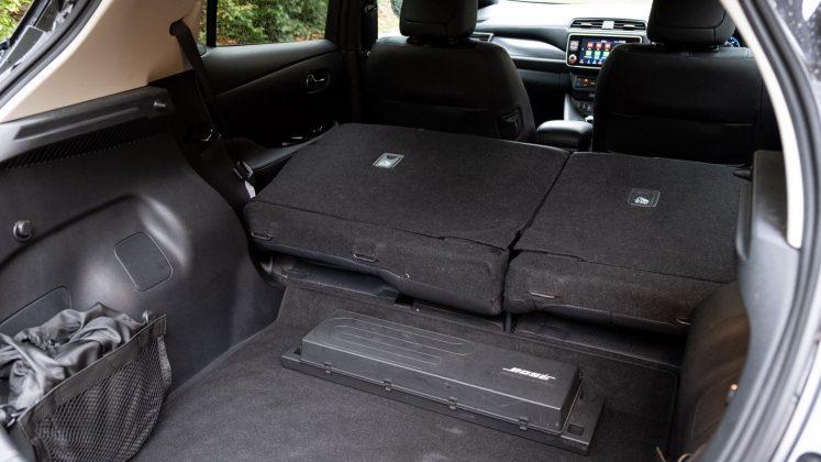 Nissan Leaf rear seats folded