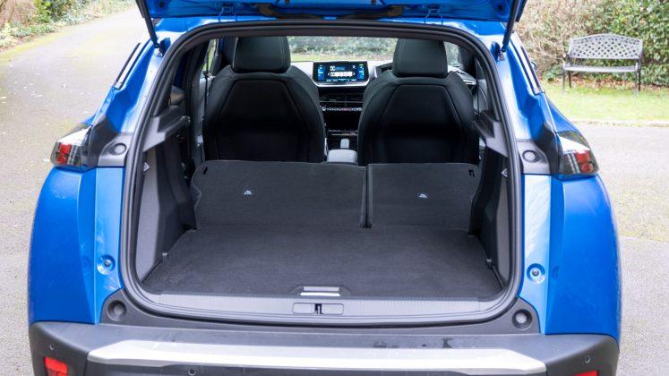 Peugeot e-2008 boot space