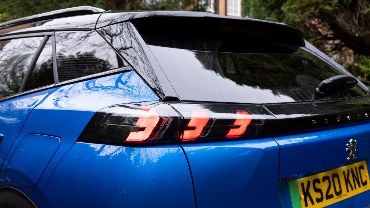 Peugeot e-2008 tail lights