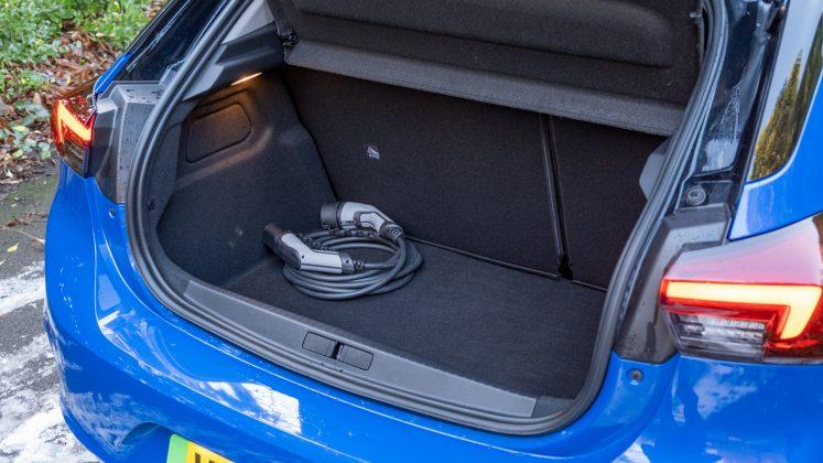Vauxhall Corsa-e boot