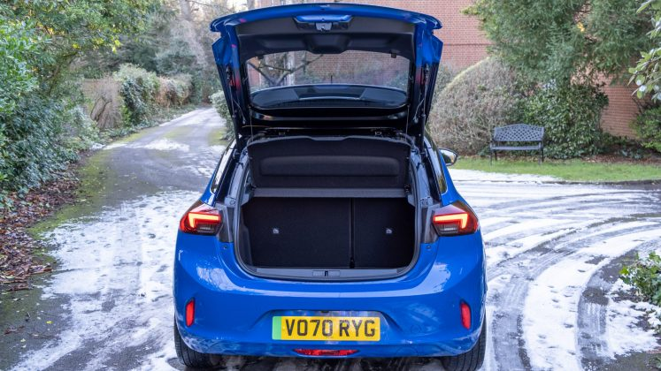 Vauxhall Corsa-e boot space