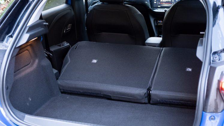 Vauxhall Corsa-e cargo volume