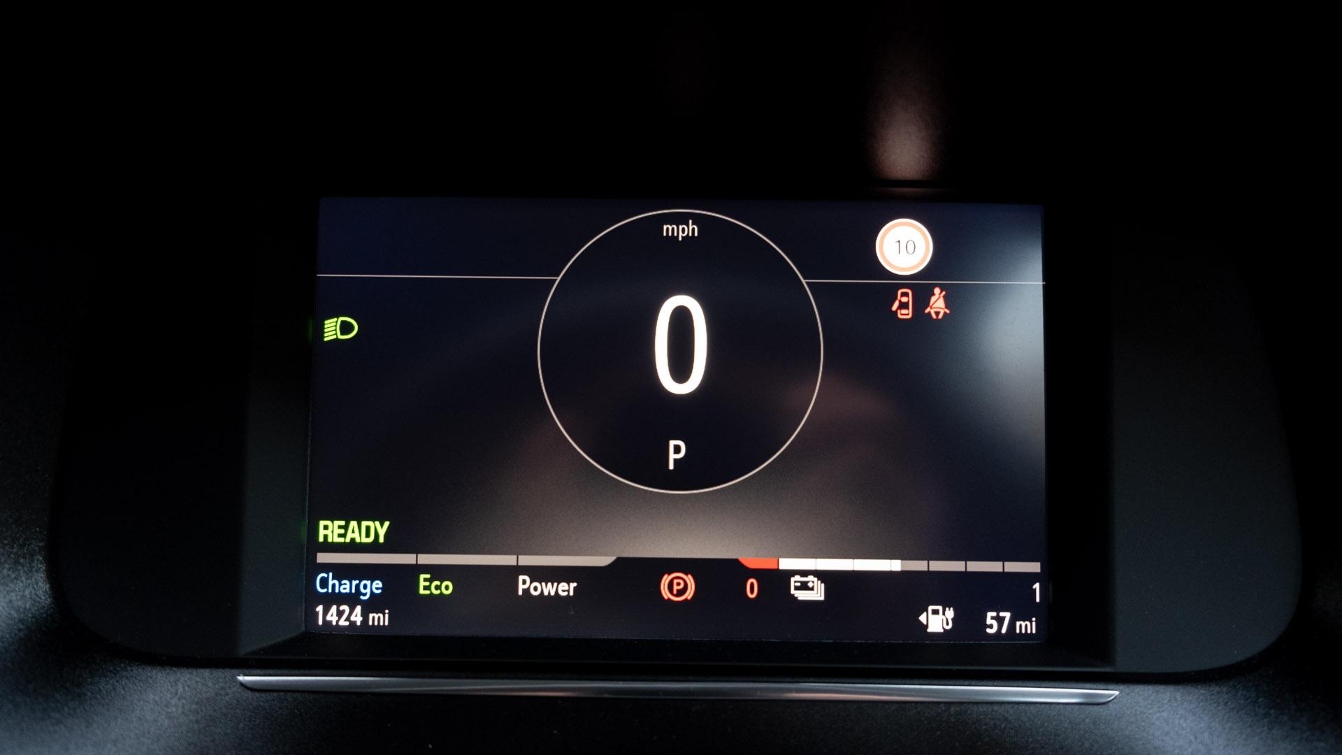 Vauxhall Corsa-e instrument cluster