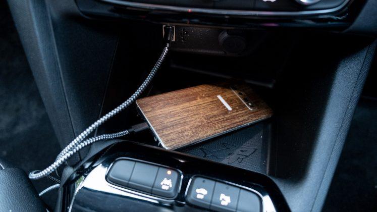 Vauxhall Corsa-e phone