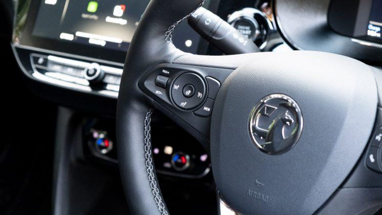 Vauxhall Corsa-e steering wheel