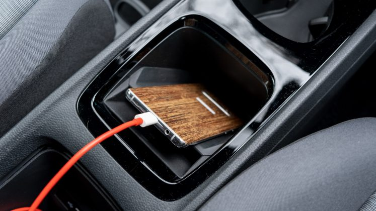 Volkswagen ID.3 phone plugged in