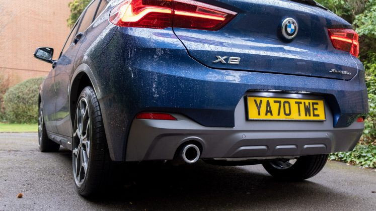 BMW X2 xDrive25e exhaust