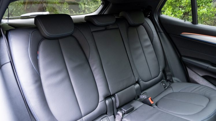 BMW X2 xDrive25e rear seats