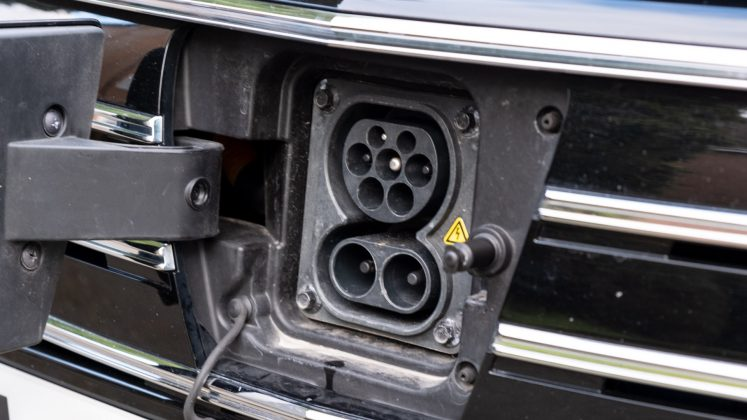 MG5 EV charging flap