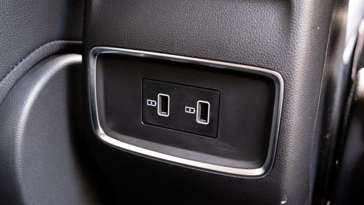 MG5 EV rear USB