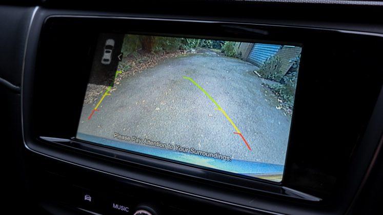 MG5 EV rearview camera