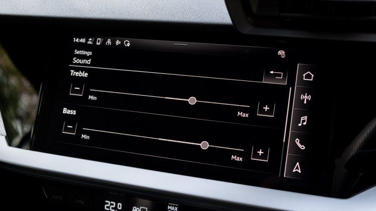 Audi A3 TFSI e EQ settings