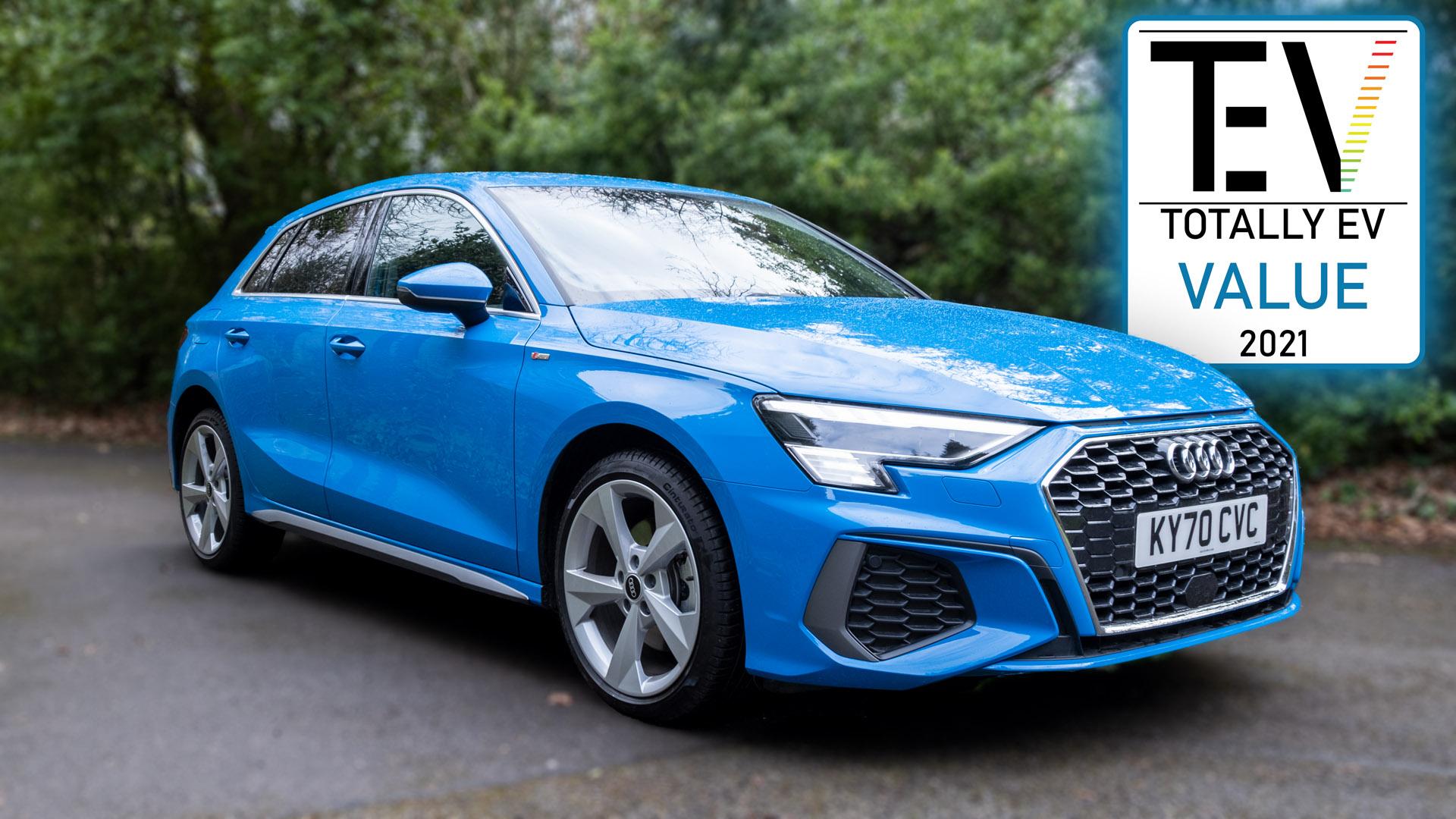 Audi A3 TFSI e audio review TotallyEV award