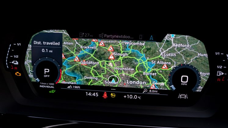 Audi A3 TFSI e instrument cluster map