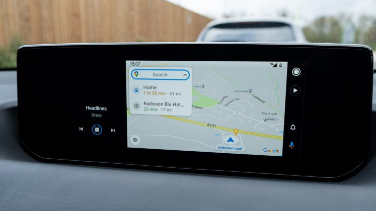 Mazda MX-30 Google Maps