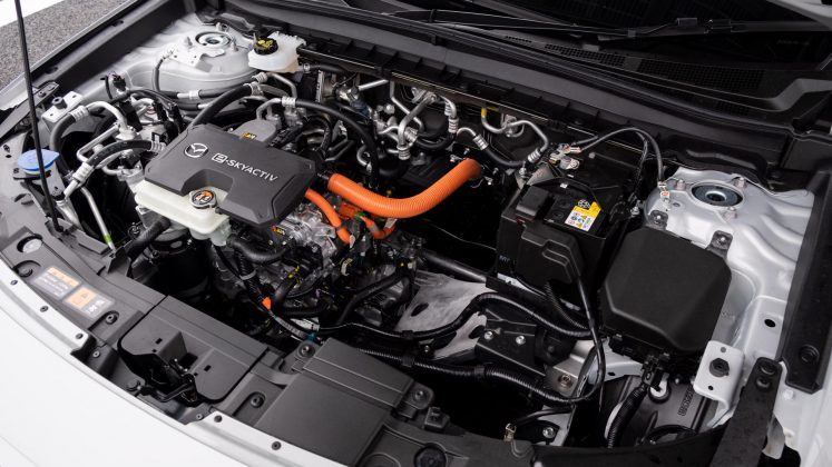 Mazda MX-30 frunk storage