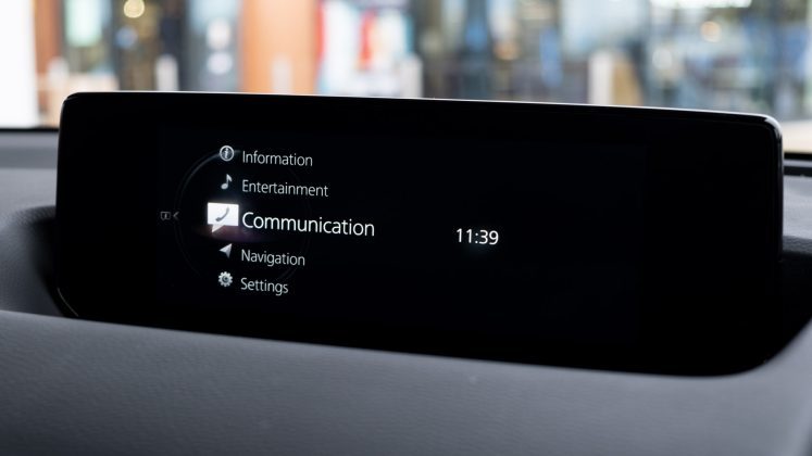 Mazda MX-30 infotainment system