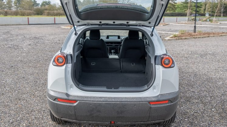 Mazda MX-30 seats down