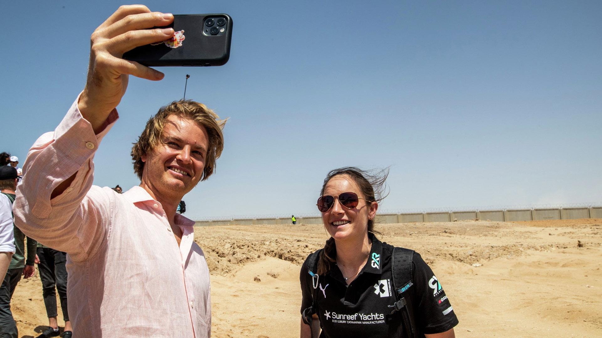 Molly Taylor and Nico Rosberg