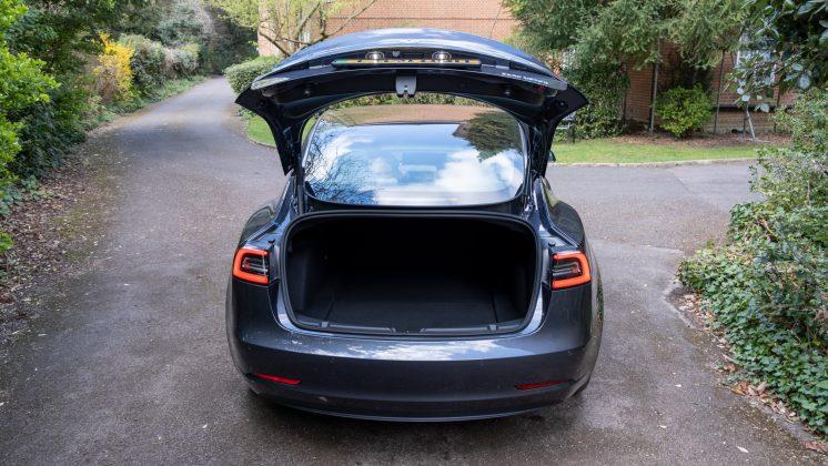 Tesla Model 3 boot
