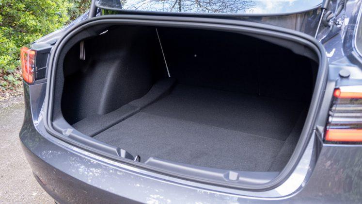 Tesla Model 3 boot space