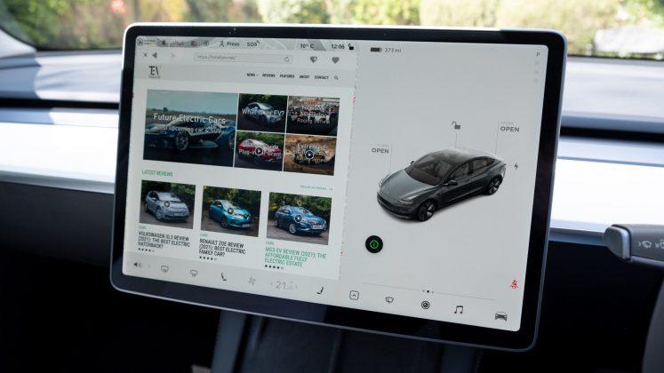 Tesla Model 3 browsing