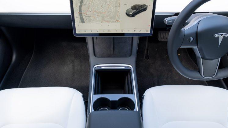Tesla Model 3 centre console