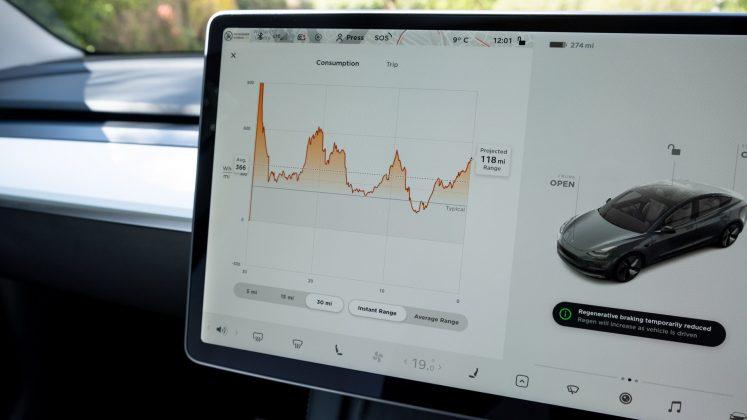Tesla Model 3 efficiency