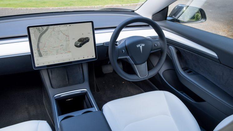 Tesla Model 3 front cabin
