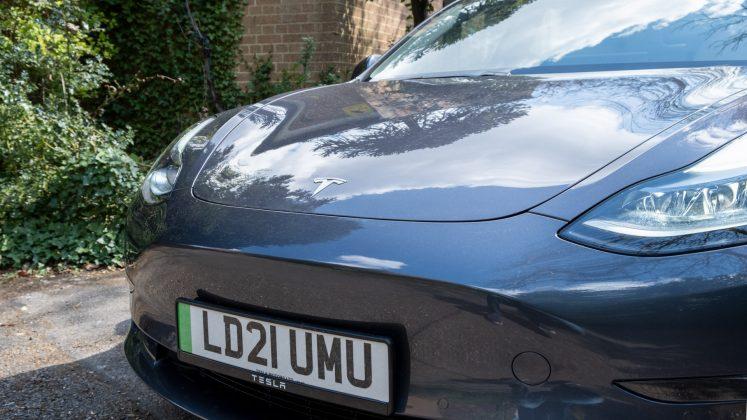 Tesla Model 3 front look
