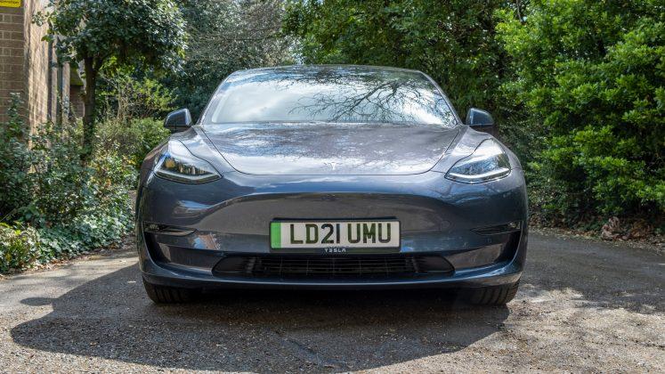 Tesla Model 3 front profile