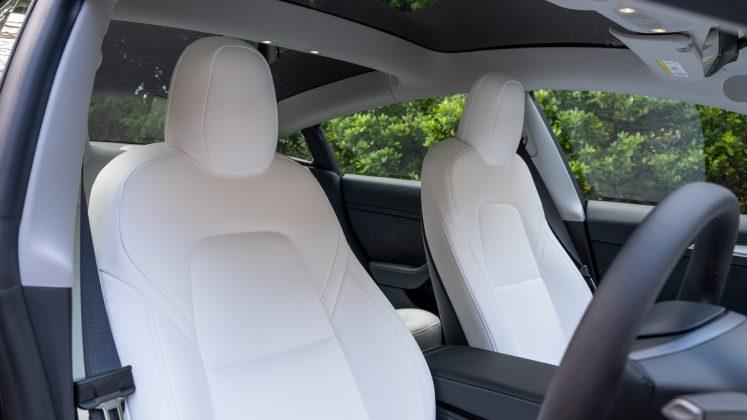 Tesla Model 3 front seats