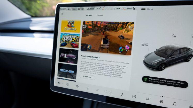 Tesla Model 3 gaming
