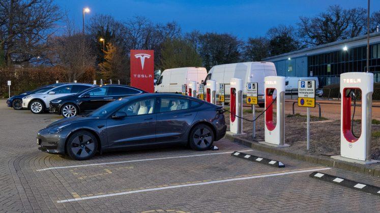 Tesla Model 3 parked