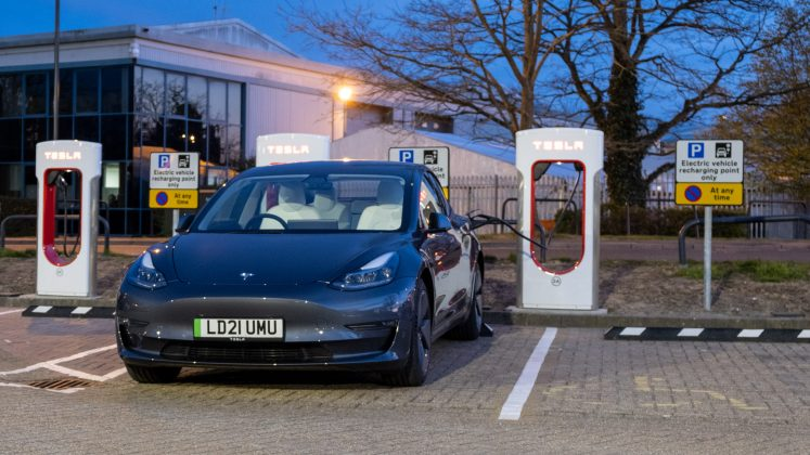Tesla Model 3 parked charge
